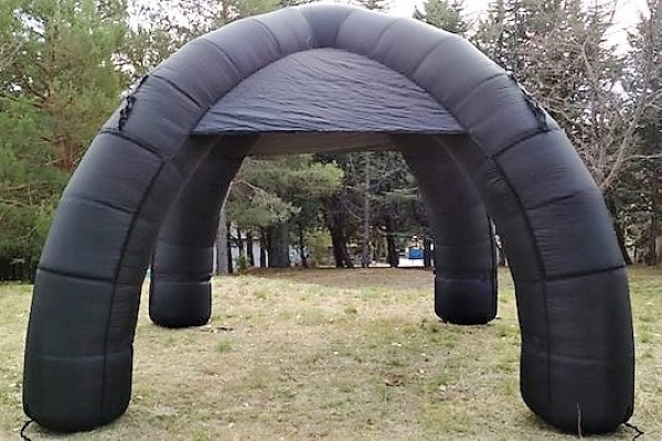 carpa estandar gris - alquiler de carpas hinchables - decateam