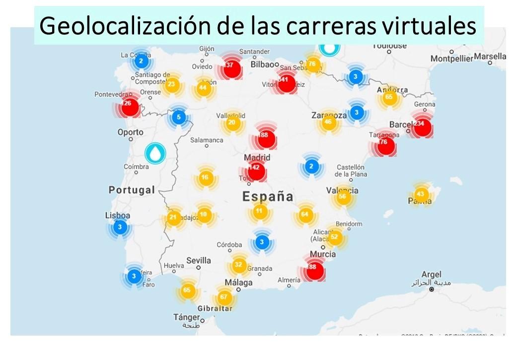 organizar carrera virtual - geolocalización de las carreras